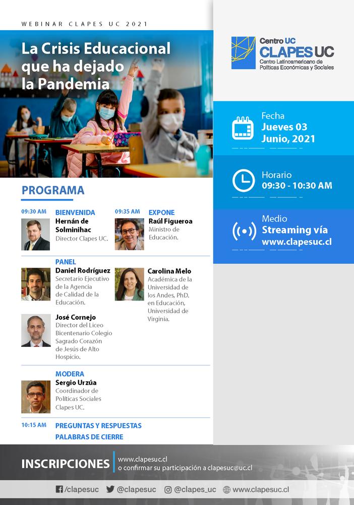 Webinar CLAPES UC: La Crisis Educacional que ha dejado la Pandemia