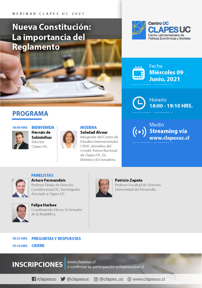 Webinar CLAPES UC: Nueva Constitución: La importancia del Reglamento