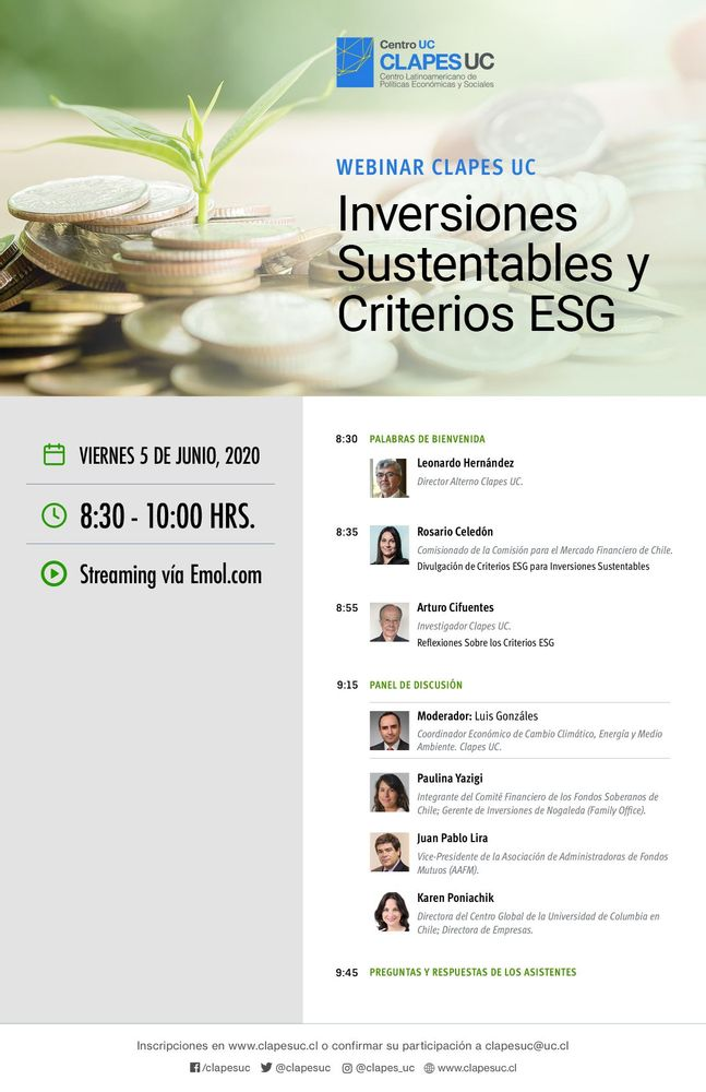 Webinar CLAPES UC: Inversiones Sustentables y Criterios ESG