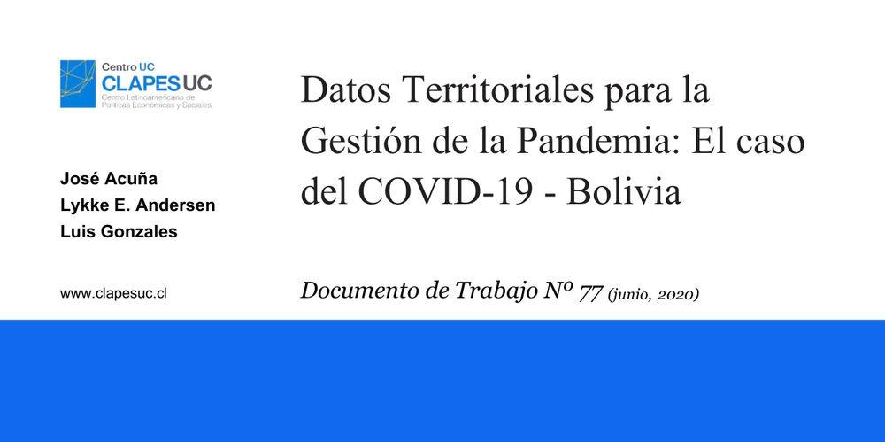 Investigadores Clapes UC son invitados a exponer estudio sobre datos territoriales para la gestión de la pandemia