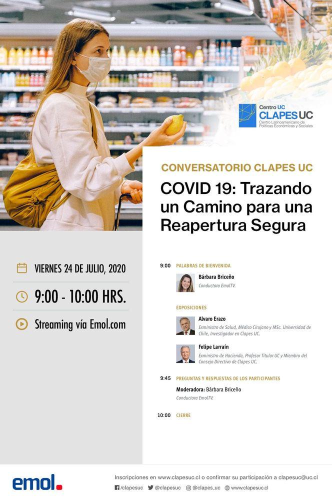 Conversatorio CLAPES UC: COVID19: Trazando un Camino para una Reapertura Segura