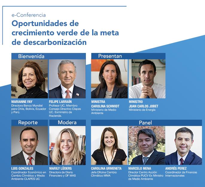 Invitación e-Conferencia: Oportunidades de Crecimiento Verde de la Meta de Descarbonización